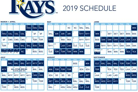 Ta Bay Rays 2018 Printable Schedule detroit tigers schedule 2019 image of tiger stateimage co