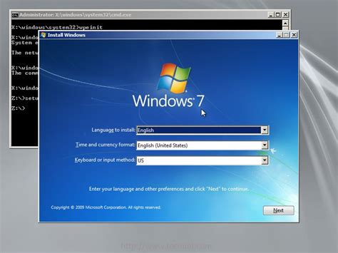 choosing windows installing windows 7 over pxe network boot server on rhel