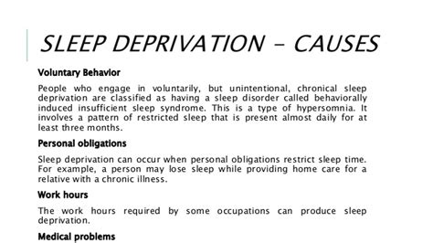 Sleep Deprivation Essay by Cause And Effect Of Sleep Deprivati