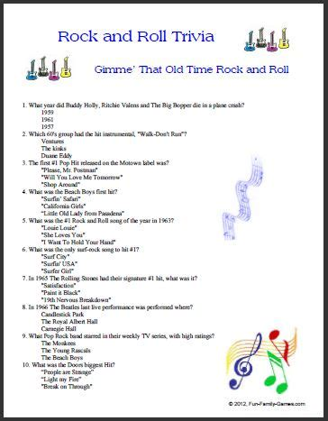 printable music quiz 2014 trivia questions and answers of the 50 and 60 autos post