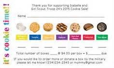 scout cookie sales receipt template 1000 images about scouts on scouts