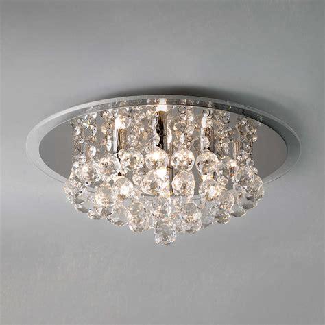 lewis belinda flush ceiling light chrome