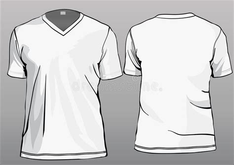 Kaos Vneck Spx Xseven Grey tshirt template with v neck stock vector illustration of printing 13869340