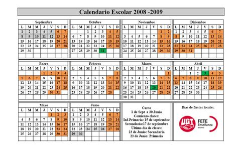 Calendario Mayo 2008 Junio 2008 Juventud Fete Ugt Madrid