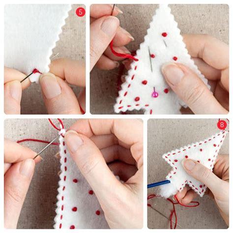 plantillas de decoracion navideñeo arbol c 243 mo hacer adornos navide 241 os de fieltro pequeocio