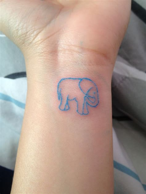 elephant on my ankle the blue tattoos