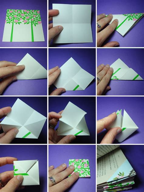 Origami Bookmark Tutorial - diy easy origami bookmark small craft ideas
