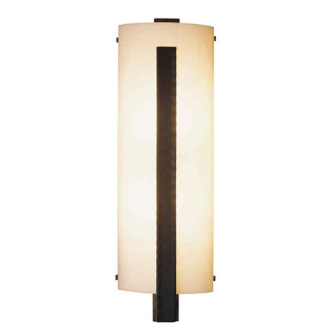 Vertical Wall Sconce Forged Vertical Bar Wall Sconce With White Glass Large Ada Compliant Concord L And Shade