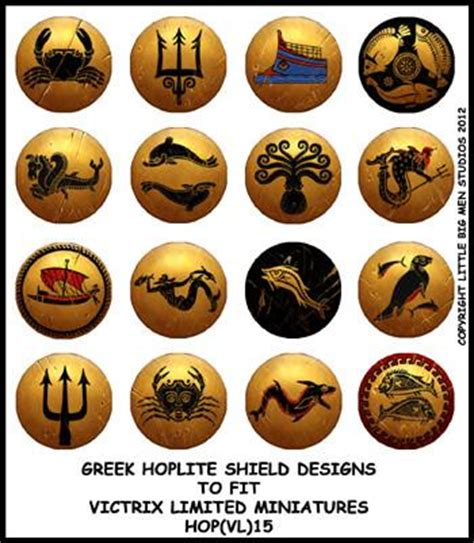 greek hoplite shield designs 15 victrix limited