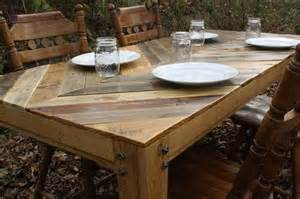 Wood Pallet Dining Table Wood Table Top Woodworking Ideas