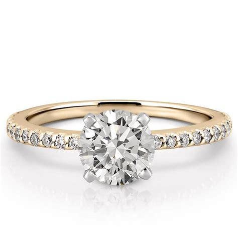 Wedding Ring On by Dainty Engagement Ring Diana Engagement Ring Do