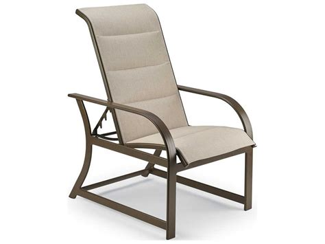 Adjustable Patio Chairs Winston Key West Padded Sling Aluminum Adjustable Chair M8017ps