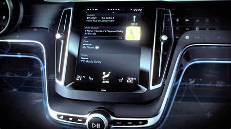 volvo concept estate user interface youtube