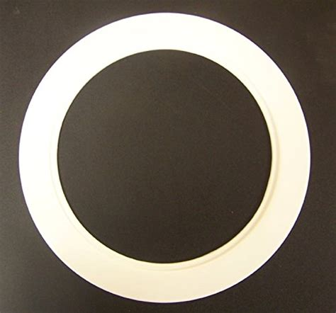 can light trim rings plastic white light trim ring recessed can 6 quot inch