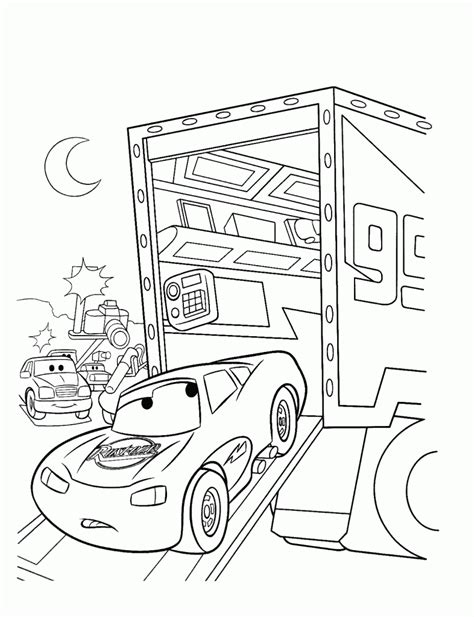 coloring pages cars mack free printable lightning mcqueen coloring pages for kids