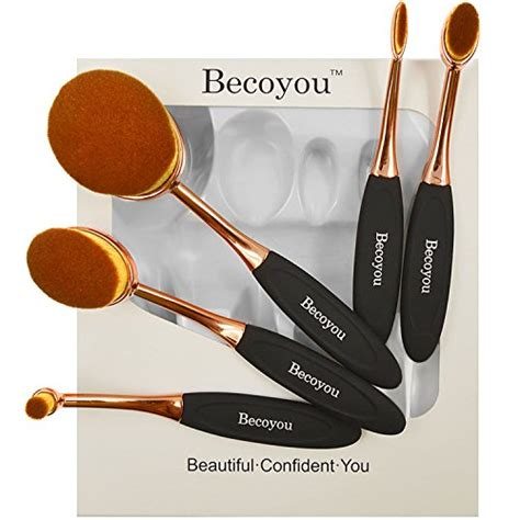 Oval Brush Supersoft makeup brushes set becoyou new fashionable soft oval toothbrush makeup brush cosmetic