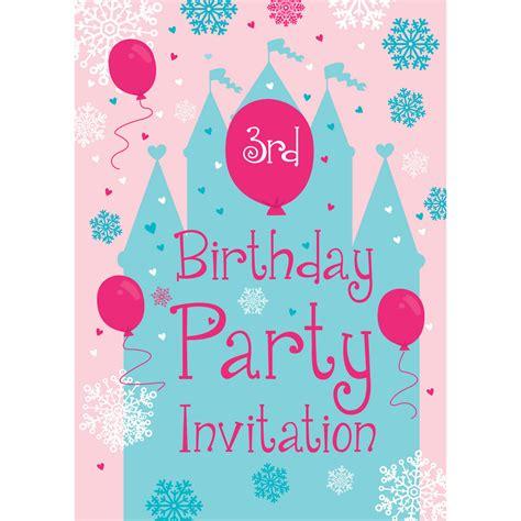 birthday invitation sles 2 3rd birthday supplies delights