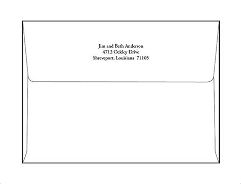 a7 envelope templates 11 free printable word psd pdf