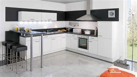 cuisine blanche et noir cuisine et blanche top cuisine