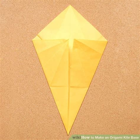 Origami Paper Kites - how to make an origami kite base 5 steps with pictures