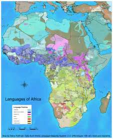 Language Map Of Africa by Africa Seen Through Dialects Not Colonial Borders