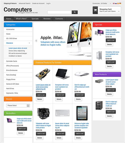 computer store oscommerce templates themes free