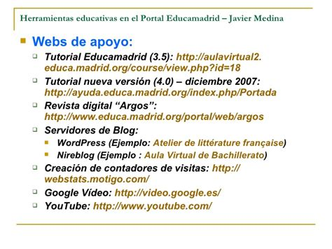 tutorial web educamadrid presentaci 243 n de portal educamadrid