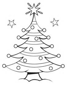 free printable christmas tree coloring pages kids