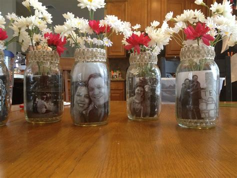 bridal shower center pieces with mason jars do it