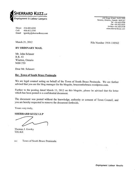 Business Letter Format Lawyer lawyer letter free printable documents