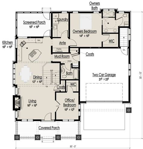 Craftsman Bungalow Floor Plans Craftsman Bungalow Main Floor Plan My Dream Home