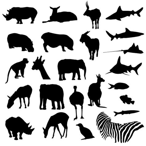 printable zoo animal silhouettes zoo animal silhouettes free printables kid party