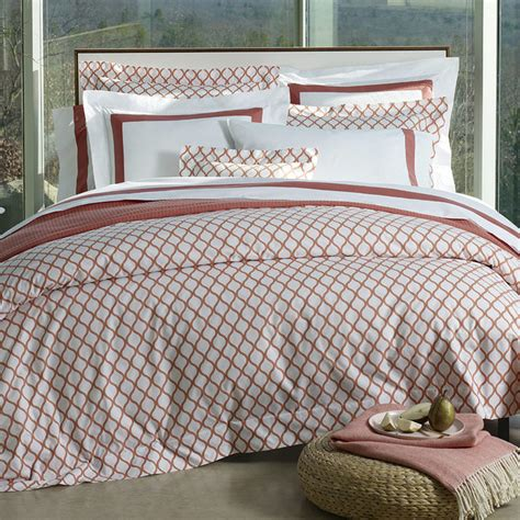 salmon bedding sferra andover duvet cover salmon full queen