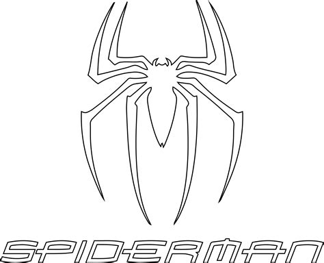 Spiderman Symbol Coloring Page | spider man coloring pages coloringsuite com