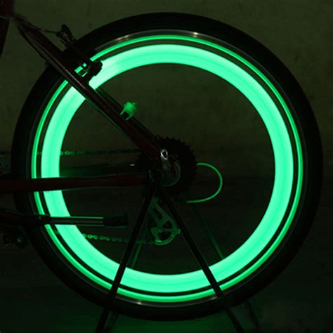 lights on wheels of a bicycle bike tire lights images