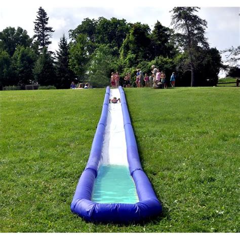 on sale turbo chute water slide backyard hill