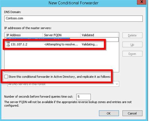 forwarding ip address dns forwarding and conditional forwarding tech
