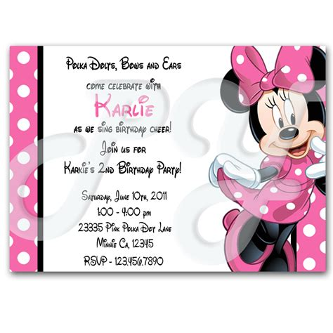 Personalized Invitations by Minnie Mouse Personalized Invitations