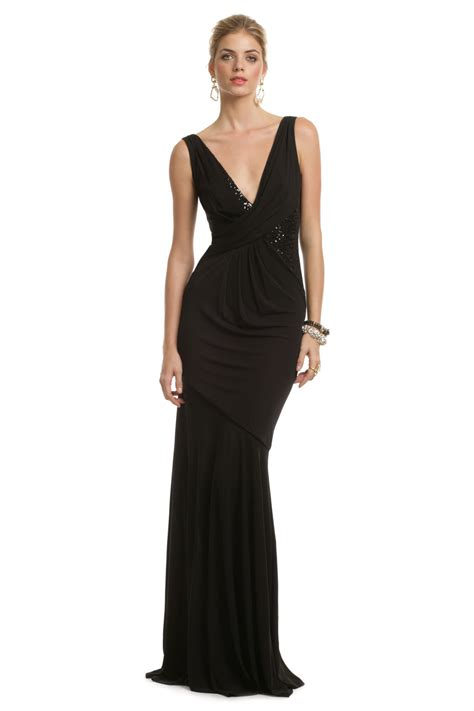 Black Seductive Sequin Gown by David Meister for $159