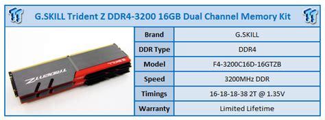 Gskill F4 3200c14d 16gtzsw g skill trident z ddr4 3200 16gb dual channel memory kit