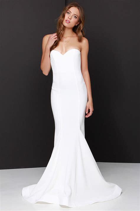 Maxi Sorella sorella ivory strapless maxi dress