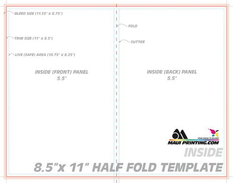 line card template publisher printing company inc 8 5 x 11 half fold brochure