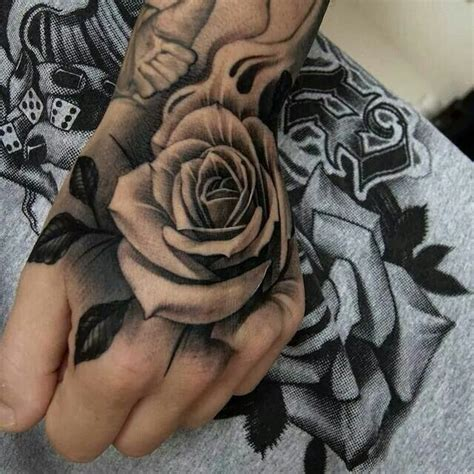 tattoo left hand zeist black and grey rose tattoo on left hand for women