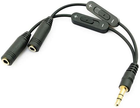 Kabel Audio Splitter 1 5 Audio Analog bol koptelefoon splitter 3 5 mm mini aux audio kabel stereo iphone oortjes splitter