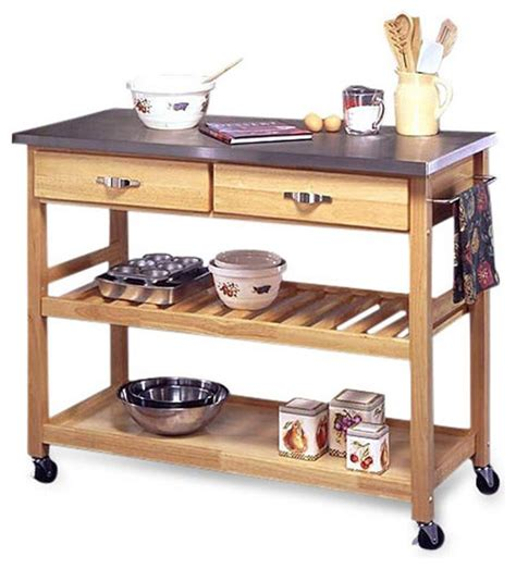 kitchen cart table stainless steel top kitchen cart utility table with