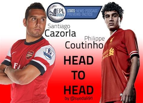 Epl Head To Head | head to head coutinho vs cazorla epl index unofficial