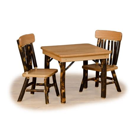 table and benches rustic hickory and oak