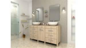 Superb Meuble Tv Chene Clair #5: Meuble-de-salle-de-bain-design-double-vasque-chene-clair-balboa.jpg