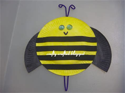 paper plate bumble bee craft crafty crafted 187 archive crafts for children 187 bee