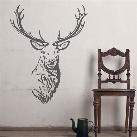 stag head home decor stag head vinyl wall sticker by oakdene designs